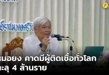 นพ.ยง ภู่วรวรรณ, Yong Poovorawan,คาดมียอดผู้ติดเชื้อโควิด-19,มียอดผู้ติดเชื้อ 1 ล้านคนทุก 12 วัน, 1 ล้านคนทุก 12 วัน,โควิด19,โควิด-19,